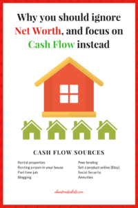 ignore Net Worth, and focus on Cash Flow